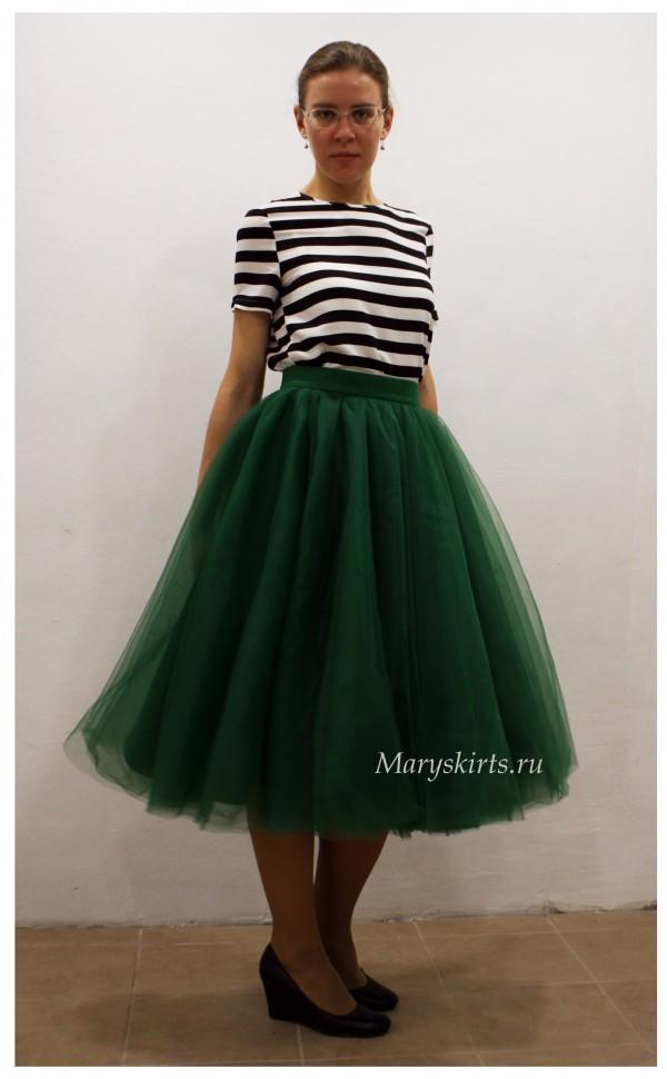 Изумрудную юбку купить