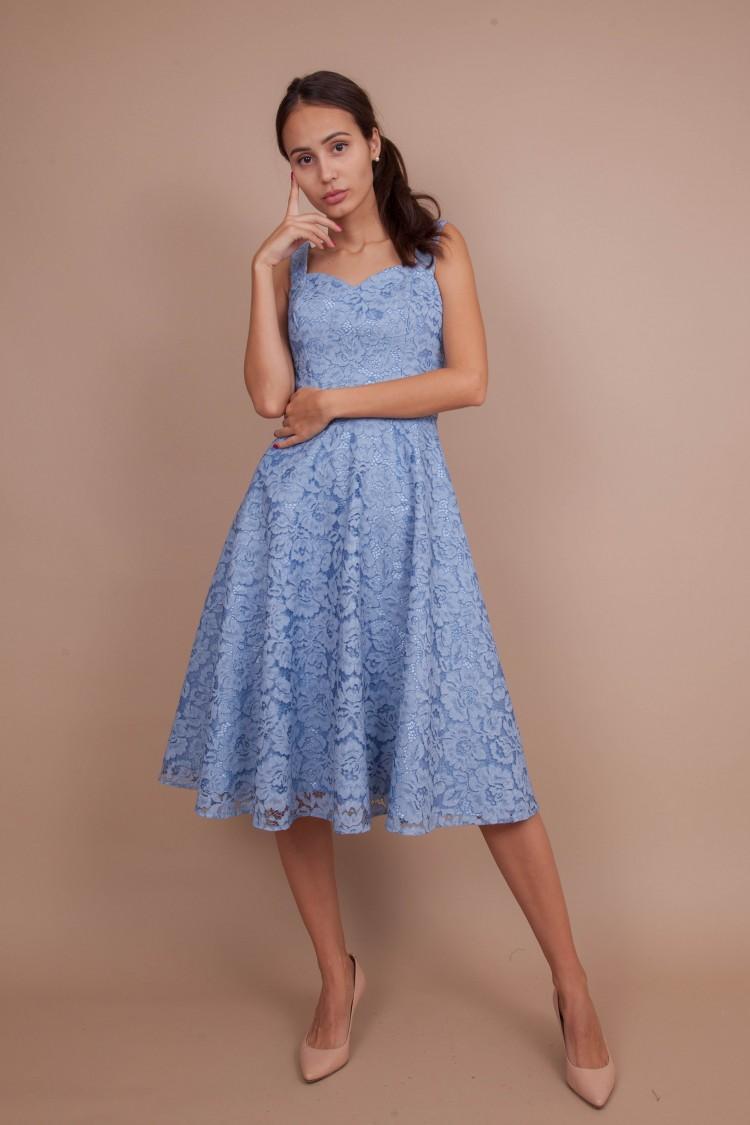 Пыльно Голубое Платье