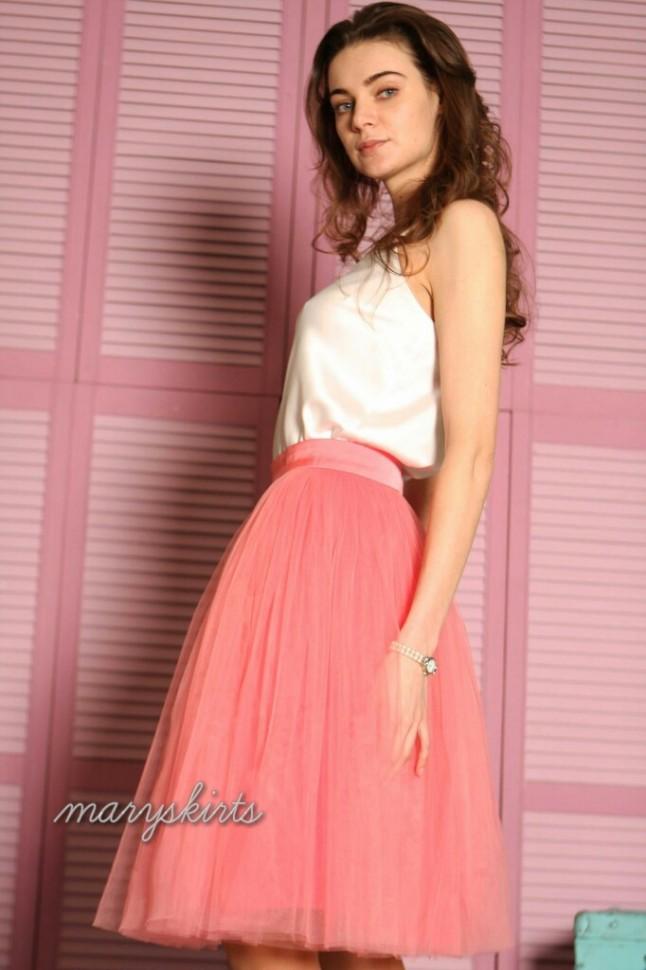 f80809568c0 Купить юбку пачку цвета Розовый пляж в интернет магазине