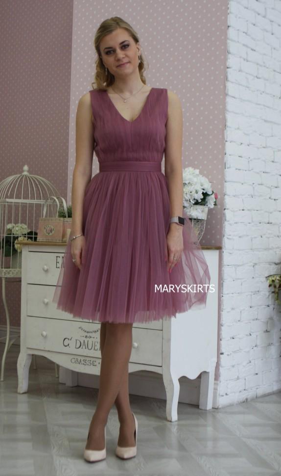 Фото фатиновое платье 90